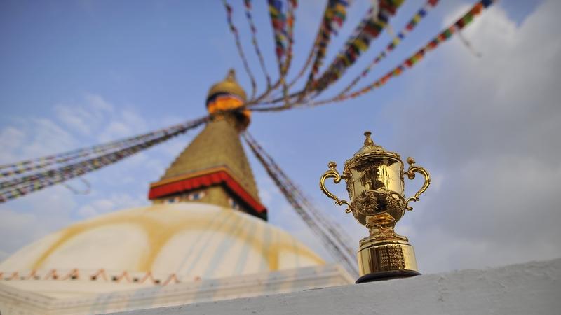 Кубок Уэбба Эллиса благословили монахи-синтоисты в Киото