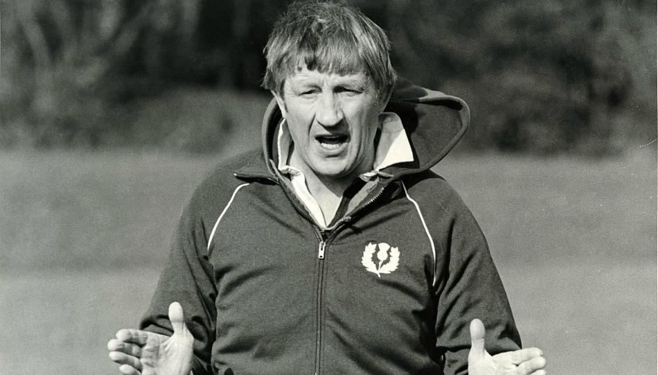 История регби в картинках: Джим Телфер на тренировке 2 марта 1984 года.