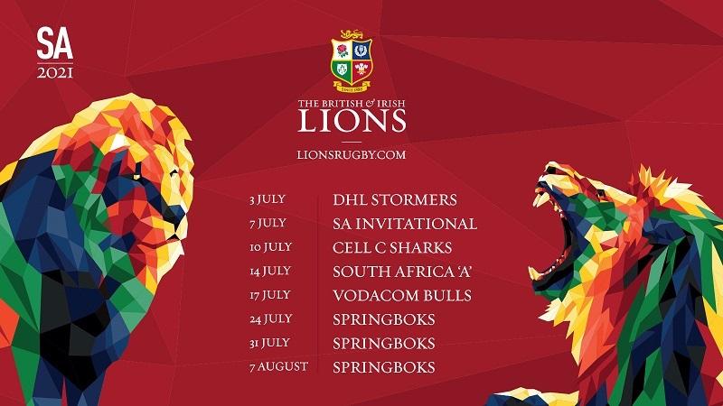 Никаких изменений - Британские и Ирландские Львы проведут восемь матчей в Южной Африке