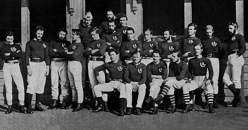 История регби в картинках: Сборные Шотландии и Англии. 1871 год.
