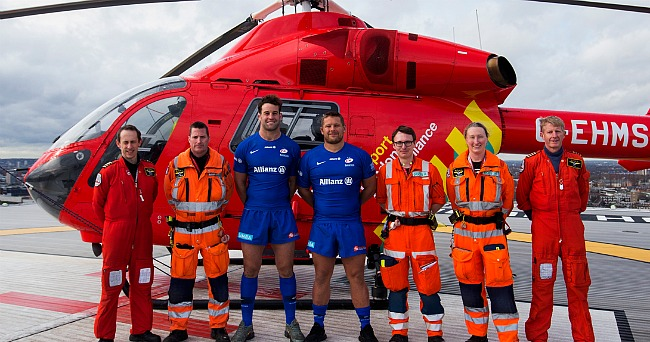 Чемпионы Англии продолжили сотрудничество с воздушной скорой помощью