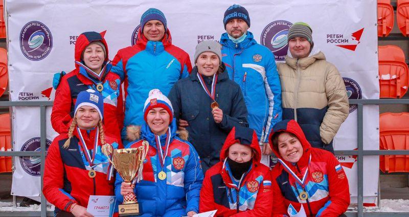 Как в Красноярске в снежный регби играли